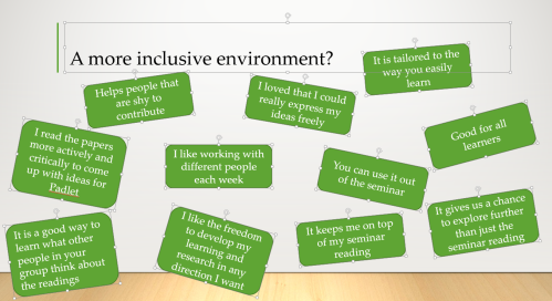 Inclusivity padlet project
